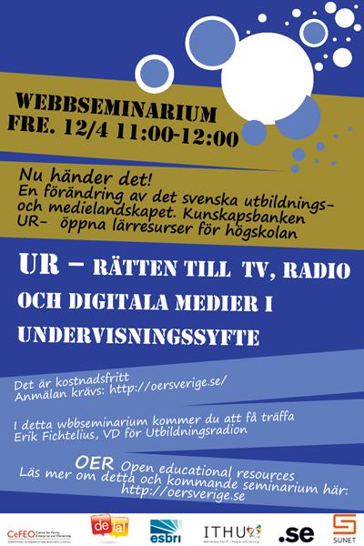 UR - Rätten till public service-material i utbildningssyfte
